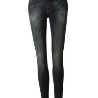 LE3NO Womens Vintage Skinny Denim Jean Pants with Pockets (CLEARANCE)