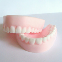 Soap Denture Teeth April Fool's Day Prank Gift Birthday Gag Geek Funny Soap Party Favors
