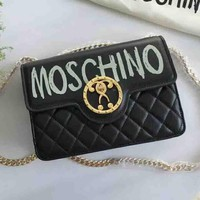Moschino Fashion New fashion print women shoulder bag Black