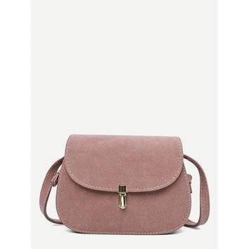 Metal Detail Saddle Bag Pink