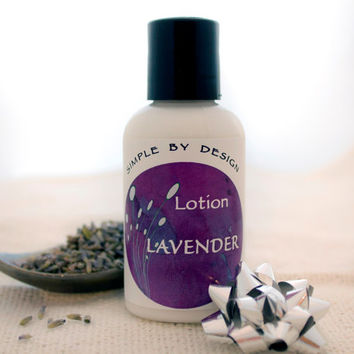 Lavender Body Lotion 2oz made with Lavender Essential Oil, organic coconut oil, organic shea butter, Great Stocking Stuffers!