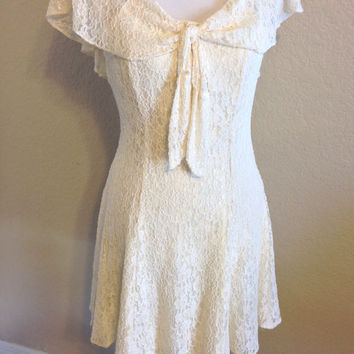Ivory Lace Dress Size Small