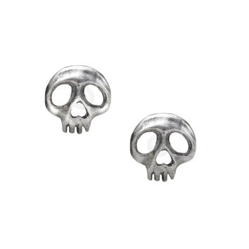 Alchemy Gothic Cute Skully Skull Stud Earrings *LAST CHANCE*