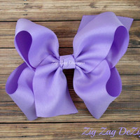 """Lilac Boutique Bow - Beautiful Huge Bow Made with 3"""" Ribbon"""