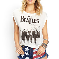 FOREVER 21 The Beatles Tee White/Black Large