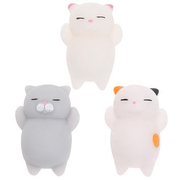 Finger Squishy Toy Cute Cat Mini Squeeze Stretchy Animals Healing Stress Ball Doll Toy Kids Adults Stress Relief Toy Gift