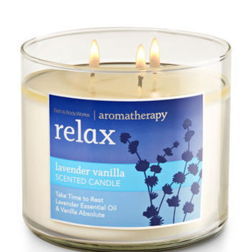 Relax - Lavender Vanilla 3-Wick Candle - Aromatherapy | Bath And Body Works