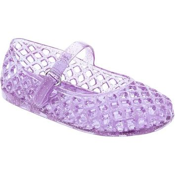 Old Navy Basket Weave Glitter Jellies For Baby
