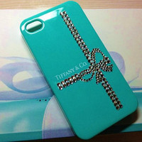 iPhone 4 and iPhone 4S Tiffany & Co. Designer Swarovski Crystal Bling Case