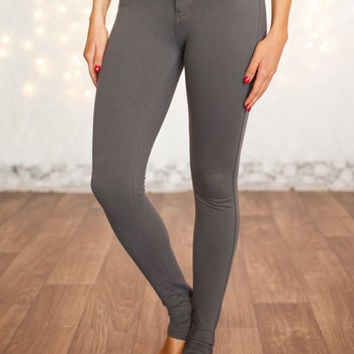 Most Favored Charcoal Fitted Jeggings