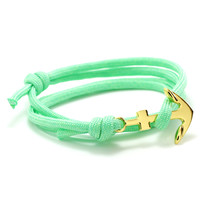 The Gold Anchor Bracelet in Mint
