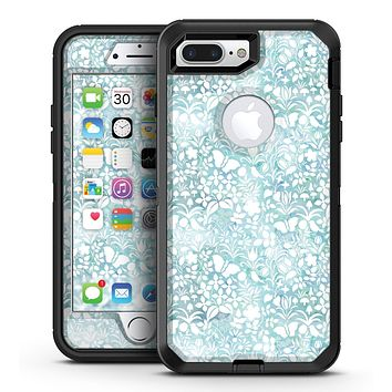 White Butterflies and Flowers on Light Blue Watercolor Pattern - iPhone 7 Plus/8 Plus OtterBox Case & Skin Kits