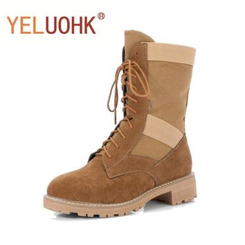 Military Boots Women Winter Boots Heel Platform Ankle Boots For Women