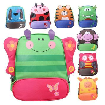 Small Cute Kids School Bag Colorful Cartoon Animal Kindergarten Primary School Backpacks for Little Girls, Boys Children