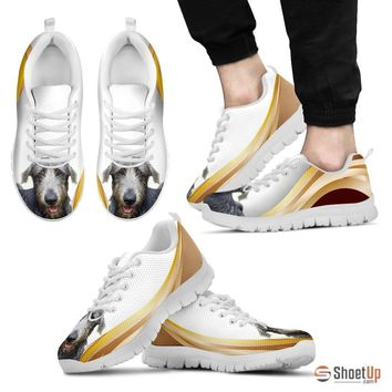 Customized Amazing Dog Print (White/Black) Running Shoes For Men-Free Shipping Limited Edition-Designed By Raffaella Belletti(2032)