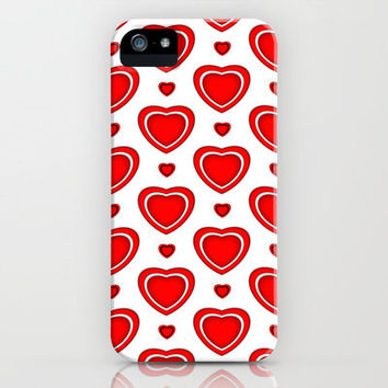 Valentine in White iPhone Case  iphone 5, 4S, 4, 3GS, 3G by Alice Gosling | Society6