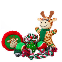 Grreat Choice® Pet Holiday Giraffe 8-Pack Dog Toy