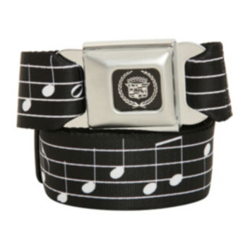 Music Notes Seat Belt Belt