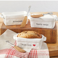 Homemade Mini Loaf Server with Spreader by Mud Pie