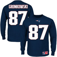 Rob Gronkowski New England Patriots Eligible Receiver II Long Sleeve T-Shirt – Navy Blue