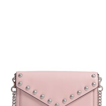 Rebecca Minkoff Blythe Studded Leather Crossbody Wallet | Nordstrom