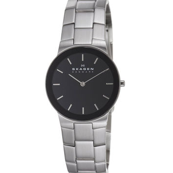 Skagen 430LSXB1 Men's Denmark Quartz Stainless Stee Black Dial Watch