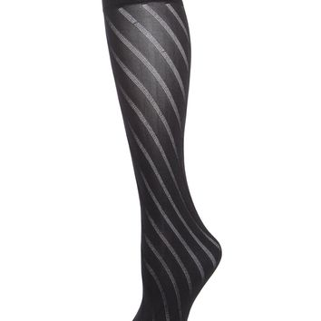 Spiral Opaque Trouser Sock