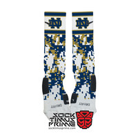 Custom Nike Elite Socks - Notre Dame Custom Nike Elites - Notre Dame Fighting Irish, Custom Elites, Notre Dame Socks, Notre Dame Football