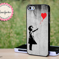 Banksy Balloon Girl iPhone 5 Case, iPhone Case, iPhone Hard Case, iPhone 5 Cover, Case for iPhone 5
