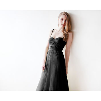 Black maxi ballerina tulle dress