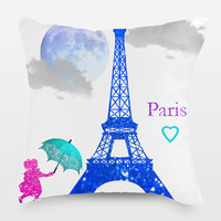 Paris Throw Pillow by haroulita on BoomBoomPrints