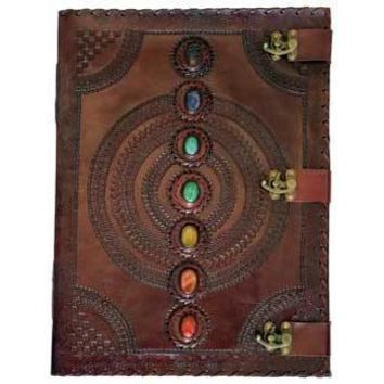 7 Stone leather blank book w/ 3 latch