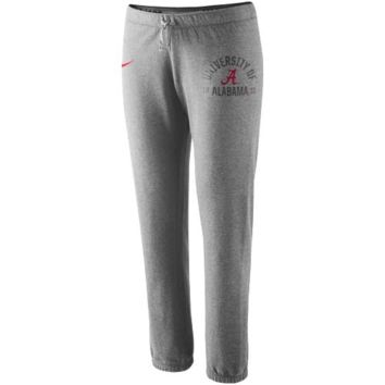 Nike Alabama Crimson Tide Ladies Rally Fleece Pants - Ash