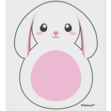 "Cute Bunny with Floppy Ears - Pink 9 x 10.5"" Rectangular Static Wall Cling by TooLoud"
