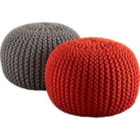 CB2 - knitted poufs
