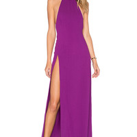 SOLACE London Loretta Maxi Dress in Magenta