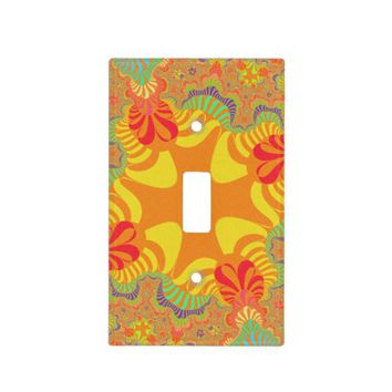 Citrus Orange Star Light Switch Cover