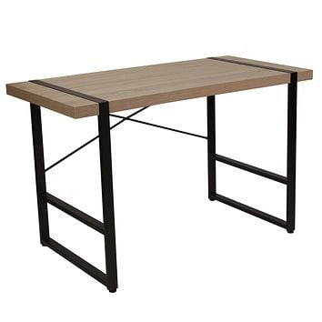 Hanover Park Console Table with Black Metal Frame