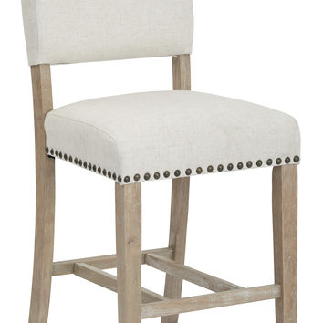 Office Star Carson Counter Stool in Linen Fabric [CSN24-L32]