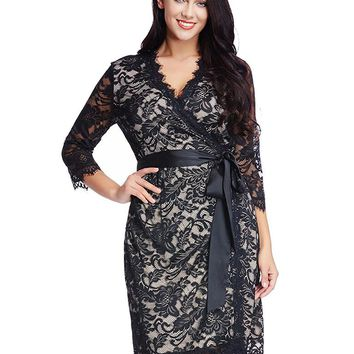 Short Plus Size Dress Mother of the Bride Lace Formal