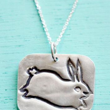 Silver Bunny Necklace