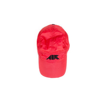 NIKE AIR AW84 5 panel hat / like new condition / red and black / buckle snap / athletic tech / baseball cap