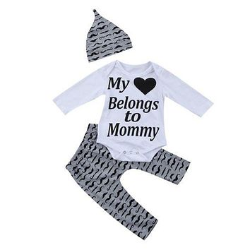 Newborn Kids Baby Boy Girl Outfit Clothes New Arrival Summer Romper Jumpsuit Pants Set