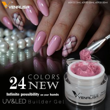 VENALISA 50ml Hardest Gel French Tips 3D 4D Camouflage Sculpture CANNI Nail Art Manicure Nail Builder Extending UV LED Jelly Gel