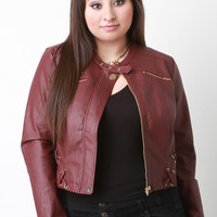 Edgy Leather Moto Jacket
