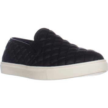 Steve Madden Ecentrcq Quilted Fashion Sneakers, Black, 9 US