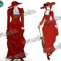 Black Butler/Kuroshitsuji Cosplay Angelina Durless (Madam Red) Costume Victorian Tour Outfit - fanplusfriend
