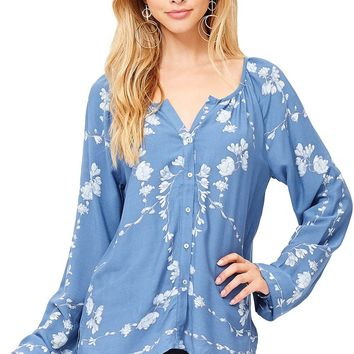 Floral Sequence Blouse