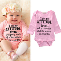 Infant Baby Girl Clothes,  Long Sleeve, Cotton Bodysuit Jumpsuit Outfit  0-18M