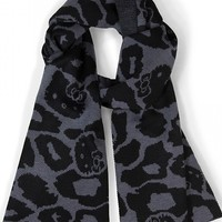 """Hello Kitty"" Scarf by Loungefly (Grey Leopard)"